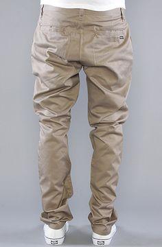The Weekender Pants in Dark Khaki by RVCA