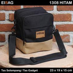 tas pria selempang tempat hp dan tablet EIBAG 1305 Hitam