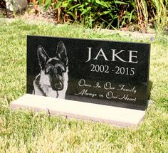 Pet Grave Marker Pet Memorial Granite Head by CustomSignworks