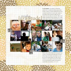 Love this layout by Ali Edwards