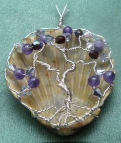 Tree of Life and Sea Shell --oh my, oh my - combines 3 of my loves ---purple and shells and trees of life