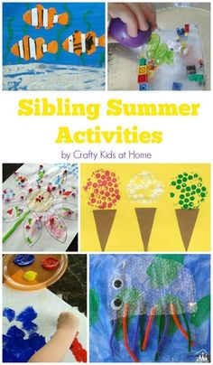 make this a summer to remember with an action packed sibling summer activity schedule that all - Fun Kid Pictures