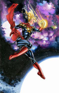 "extraordinarycomics: "" Captain Marvel by Richardcox.......... !!!! """