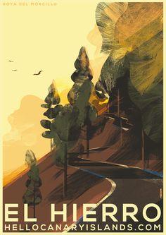 #ONTHEDRAW | El Hierro por Mads Berg #ilustración #ElHierro