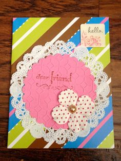Paper handmade greeting card by Scrapbooker429 on Etsy, $3.99