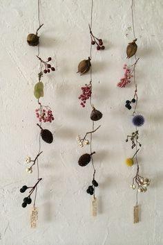 花と木の実 モービル ロング | iichi(いいち)| ハンドメイド・クラフト・手仕事品の販売・購入