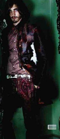 Best bohemian male model, Andres Risso.