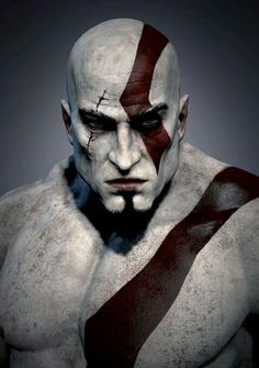 """Kratos Portrait"" (God Of War) (Artist Unknown) Comment below if you know the artist 👍👍 ( (Sci-Fi/Fantasy) Tags Guerrero Tattoo, Video Game Art, Video Games, God Of War Series, Heavenly Sword, Kratos God Of War, Gaming Wallpapers, Fantasy Warrior, Greek Mythology"
