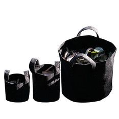 1Gallon H40*55cm Garden Fabric Grow Bags Breathable Pots Planters Root Pouch Black (Intl)
