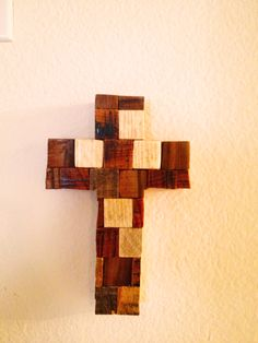 #pallet #cross! Made from the scraps of pallet #wood by palletso.