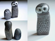 Owls by Mari Simmulson for Upsala-Ekeby