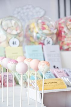 Vintage Candy Store | Styled By Coco Lollipop Shop, Sweet Buffet, Pastel Candy, Second Birthday Ideas, Vintage Candy, Candy Store, Party Entertainment, Candy Jars, Pretty Pastel