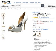 "Badgley Mischka Women's Darby 2 Open-Toe Pump. In the frenetic, often tumultuous fashion industry, Mark Badgley and James Mischka are a rare breed. Hailed by Vogue as among the ""Top 10 American Designers"" and the darlings of the young Hollywood set, this design team has made their mark with the most glamorous, stylish and wearable evening wear to come along in years..."