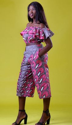 The Home Of African Fashion Culotte Pants, African Design, African Dress, African Fashion, Fashion Forward, Looks Great, Latest Trends, Crop Tops, Inspired