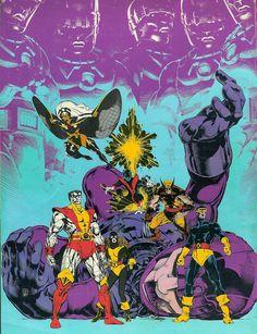 X-Men by Michael Golden! Pinnacle comic book art!
