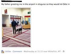 dad, funni stuff, laugh, funny pictures, airports, dog, disguis, thing, father