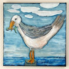 Buy Seagull, torn paper collage on canvas, Collage by Mariann Johansen-Ellis on Artfinder. Discover thousands of other original paintings, prints, sculptures and photography from independent artists.