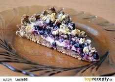 Celozrnný koláč s tvarohem, ovocem a drobenkou z ovesných vloček recept - TopRecepty.cz Healthy Deserts, Healthy Sweets, Healthy Baking, Healthy Recipes, Food Inspiration, Blueberry, Bakery, Cheesecake, Clean Eating