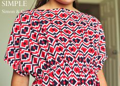 Perfect swim cover up A Caftan Tutorial. - Simple Simon and Company Dress Sewing Patterns, Sewing Patterns Free, Free Sewing, Clothing Patterns, Sewing Tutorials, Tutorial Sewing, Sewing Ideas, Diy Clothing, Sewing Clothes