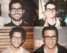 Tyler Hoechlin (Derek) , Tyler Posey (Scott) , Dylan O'Brien (Stiles) , & Colton Haynes (Jackson) - Teen Wolf