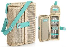 Tiffany Central Park Picnic Basket And Wine Carrier For Summer Picnics