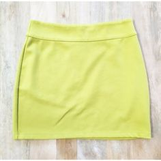 Lime Silence + Noise Mini Skirt Green mini skirt by Silence + Noise from Urban Outfitters. Stretchy and super comfy! Great for a night out! Perfect condition. Urban Outfitters Skirts Mini