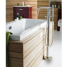Bring nature indoors with the waterfall freestanding bath/shower mixer from…