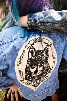 Women's Clothing Constructive Women Fahsion Denim Coats And Jackets Ripped Hole Harajuku Veste Femme Vintage Jacket Patch Outwear Jeans Bule Streetwear Cool In Summer And Warm In Winter