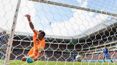 Bryan Ruiz of Costa Rica (not pictured) scores his team's first goal past Gianluigi Buffon of Italy during the 2014 FIFA World Cup Brazil Group D match between Italy and Costa Rica at Arena Pernambuco on June 20, 2014 in Recife, Brazil. (Photo by Jamie McDonald/Getty Images)  2014 FIFA World Cup Brazil™: Italy-Costa Rica - Photos - FIFA.com
