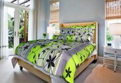 Grasshopper Obliečka Bavlna  Liana zelená 140x200