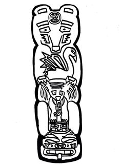 Totem Pole Coloring Pages . 30 Elegant totem Pole Coloring Pages . Luxury Vase and Flowers Coloring Pages – Kursknews Skull Coloring Pages, Coloring Books, Totem Pole Drawing, Native American Totem Poles, Spiderman Coloring, Relaxing Colors, Body Art Tattoos, Adult Coloring, Nativity