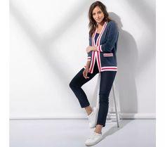 Kardigan s kontrastnými lemami Sportswear, Sporty, Athletic, Jackets, Style, Fashion, Fall Winter Fashion, Woman Clothing, Jacket