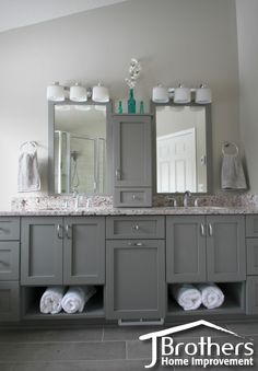His And Hers Vanities By J Brothers Home Improvement In Maple Grove, MN    JBrothersHI