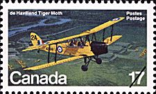 Canadian Postal Archives Database Postal Administration: Canada Title: de Havilland Tiger Moth Denomination: 17¢ Date of Issue: 24 November 1981