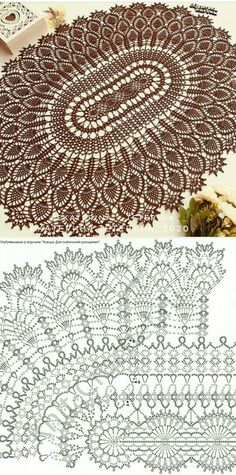 Crochet Doily Diagram, Crochet Doily Patterns, Thread Crochet, Crochet Motif, Crochet Lace, Crochet Stitches, Knitting Patterns, Crochet Dollies, Crochet Granny