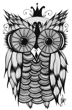 Another owl drawing that would make a really neat tattoo.minus the crown Creation Art, Owl Always Love You, Desenho Tattoo, Owl Art, Doodle Art, Owl Doodle, Doodle Tattoo, Painting & Drawing, Tatting