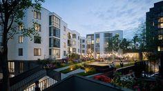 Design and visualizations of the residential quarter (urban block) in Rivne, UA