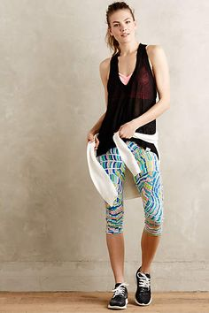 Stained Glass Performance Capris - anthropologie.com