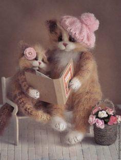 Купить Почитай мне, мама, книжку - кошка, мама, мама и дочка, Игрушка кошка