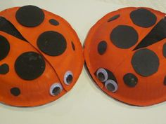 paper crafts | The two paper bowl ladybugs we made. An easy, adorable craft for kids!