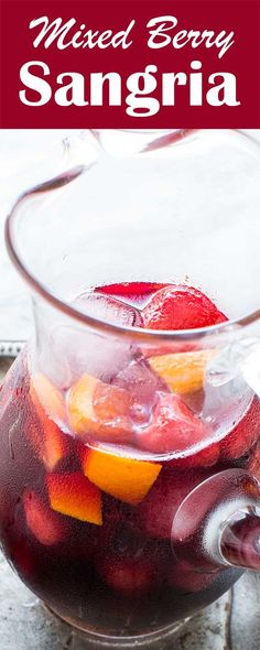 Simply Recipes® saved to Best EASY Berry Red Wine Sangria! Made with red wine, brandy, orange juice, fresh or frozen berries. Perfect refreshing summer drink for a party! Red Sangria Recipes, Red Wine Sangria, Berry Sangria, Red Sangria Mix Recipe, Sangria Recipe Without Brandy, Holiday Sangria, Cocktail Recipes, Fun Easy Recipes, Simply Recipes