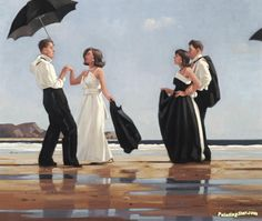 View The black and white ball by Jack Vettriano on artnet. Browse upcoming and past auction lots by Jack Vettriano. Jack Vettriano, Most Popular Artists, Umbrella Art, Edward Hopper, Oeuvre D'art, Canvas Art Prints, Love Art, Amazing Art, Art Photography