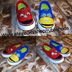 Chuggington themed shoes Wilson/ Brewster on Toms