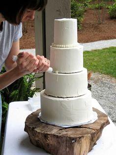 diy wedding cake - base for ash again!