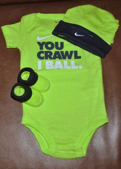 new  nike 3 piece infant set volt size 0 - 6 mo gift box from 28295cb4c
