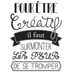 Affiche à imprimer – Citation créative | Trouvart