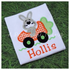 Boys Easter Bunny Shirt by APersonalThing on Etsy, $18.00