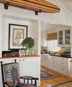 surf shack in Newport Beach, CA; interior design by Peter Dunham, photo by Lisa Romerein for Coastal Living