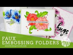 Today I am sharing how to create faux embossing folders with your dies. This is a great way to get new looks from products you have! Jennifer Mcguire Ink, Envelope Art, Card Making Techniques, Art Techniques, Card Tutorials, Video Tutorials, Ink Pads, Colouring Techniques, Card Maker