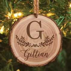 Family Name Personalized Bark Ornament, Size: inch x inch, Brown Wood Slice Crafts, Wood Burning Crafts, Wood Burning Patterns, Wood Burning Art, Wood Crafts, Wood Burning Projects, Diy Wood, Wood Burn Designs, Wood Design